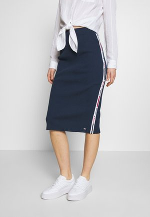 TAPE DETAIL SKIRT - Falda de tubo - twilight navy