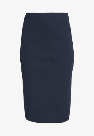 TAPE DETAIL SKIRT - Pouzdrová sukně - twilight navy