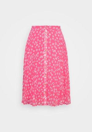 PLEATED BUTTON THRU SKIRT - Gonna a campana - glamour pink