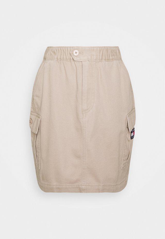 CARPENTER SKIRT - Mini skirts  - soft beige