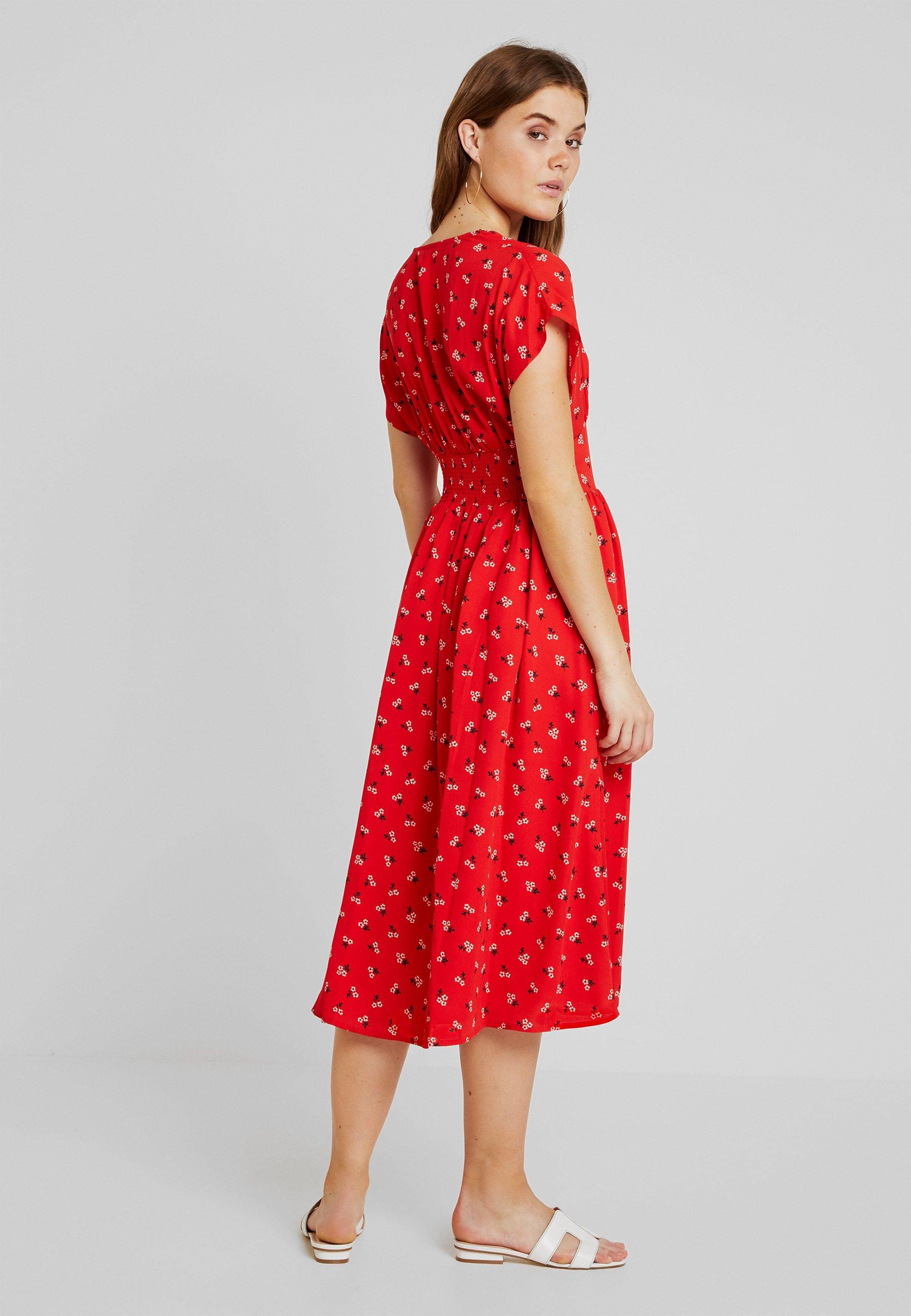 Red Detail Waist Jeans DressRobe Midi Tommy D'été PkuiXZTO