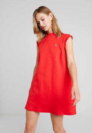 A LINE PIPING DRESS - Jerseykleid - flame scarlet