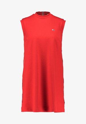A LINE PIPING DRESS - Robe en jersey - flame scarlet