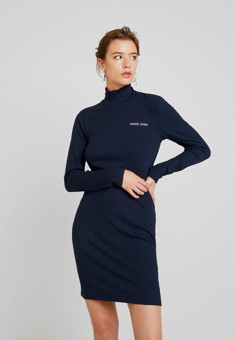 Tommy Jeans - FITTED DRESS - Fodralklänning - black iris