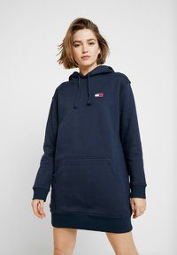 Tommy Jeans - BADGE HOODIE DRESS - Robe d'été - black iris - 0