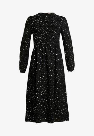 SMOCK DETAIL MIDI DRESS - Robe d'été - black