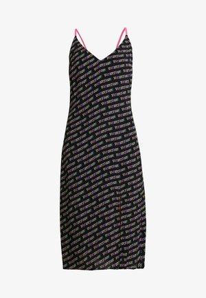 PRINTED STRAP DRESS - Sukienka z dżerseju - black
