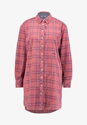 CHECK - Vestido camisero - pink