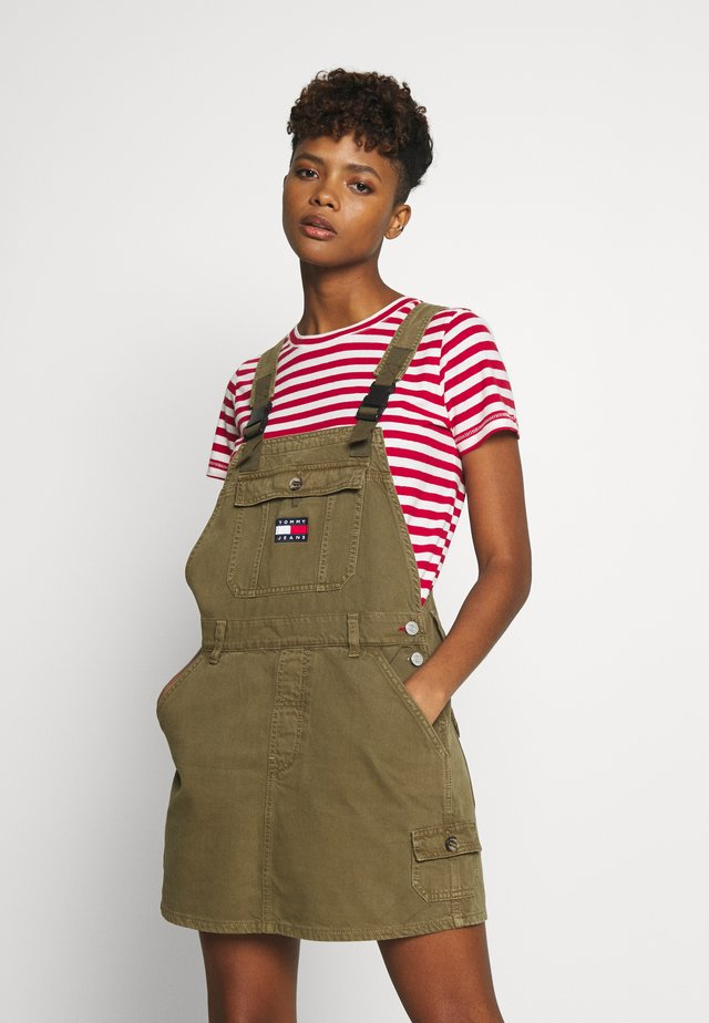 DUNGAREE DRESS - Spijkerjurk - olive tree