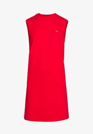 TAPE DETAIL A LINE DRESS - Robe en jersey - deep crimson