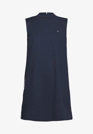 TAPE DETAIL A LINE DRESS - Žerzejové šaty - twilight navy