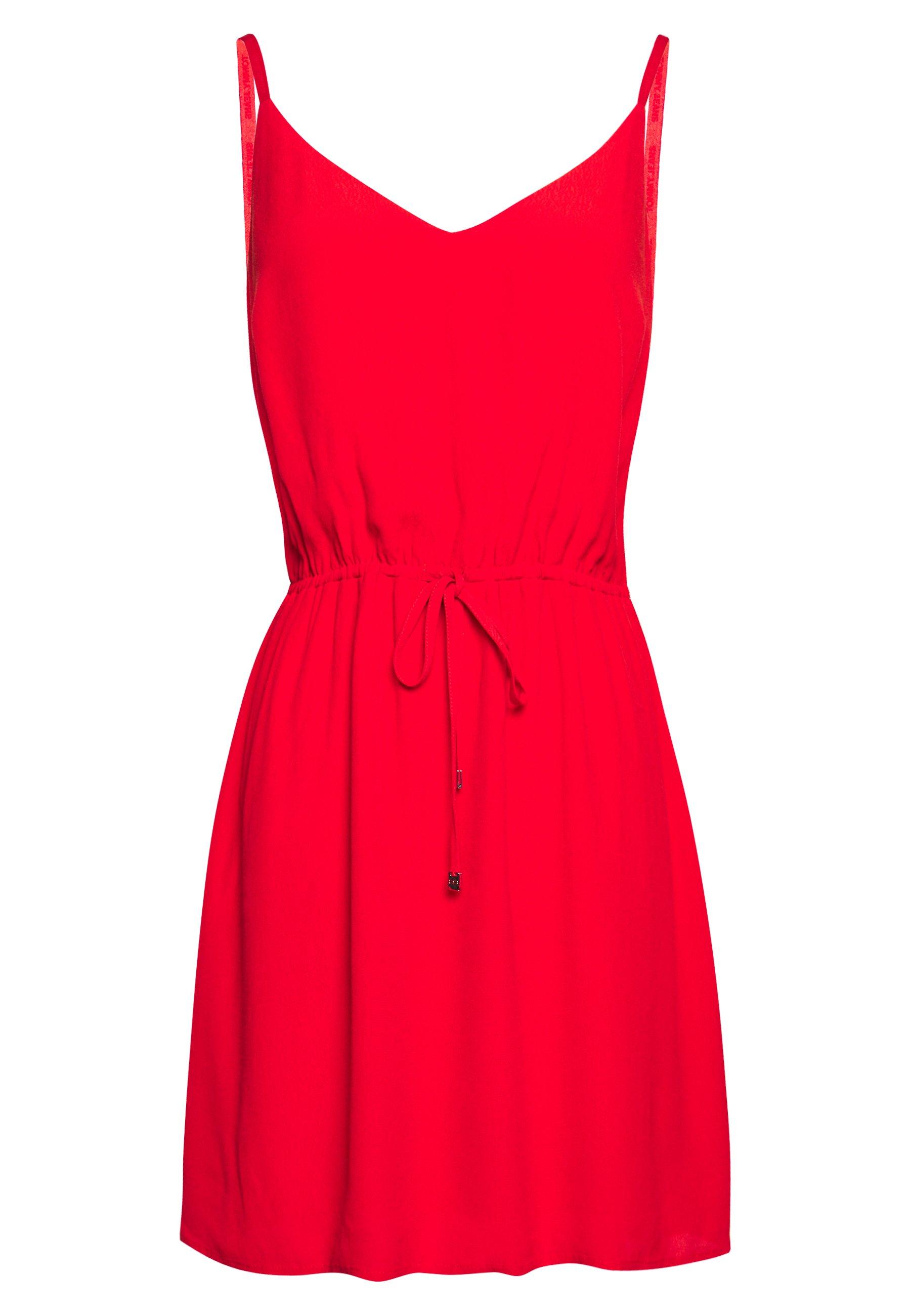 Tommy Jeans Essential Strap Dress - Vardagsklänning Deep Crimson