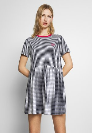 STRIPE TEE DRESS - Jersey dress - twilight navy white