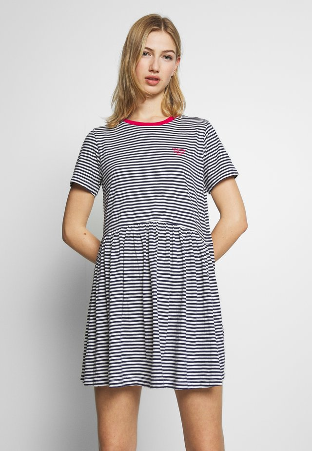 STRIPE TEE DRESS - Vestido ligero - twilight navy white