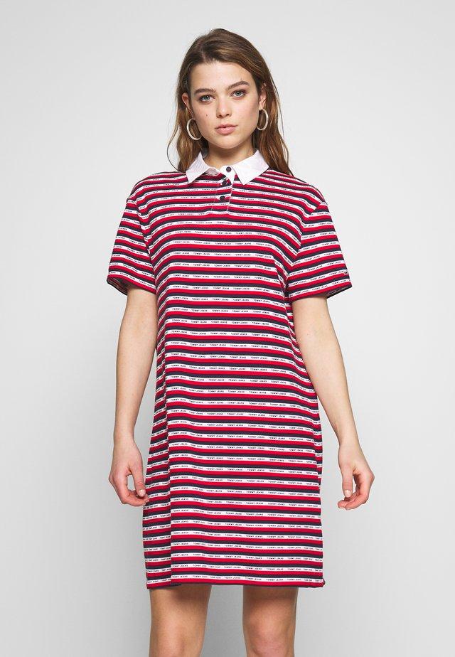 STRIPE DRESS - Vestido informal - dark blue/white