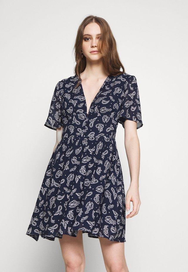 TJW WAIST DETAIL FLUID DRESS - Vestido informal - dark blue