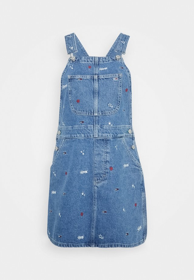 CLASSIC DUNGAREE DRESS  - Korte jurk - star critter blue rigid