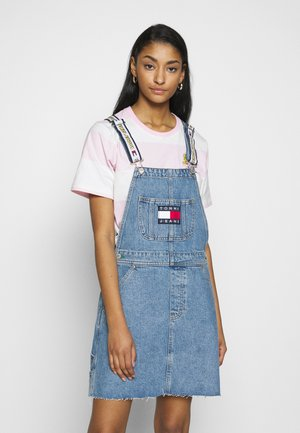 LOONEY TUNES DUNGAREE - Denim dress - light blue denim