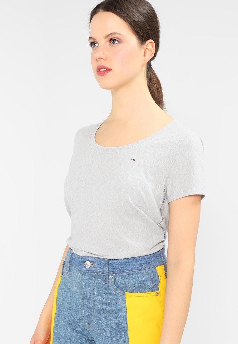 Tommy Jeans - ORIGINAL TRIBLEND TEE - Basic T-shirt - light grey heather