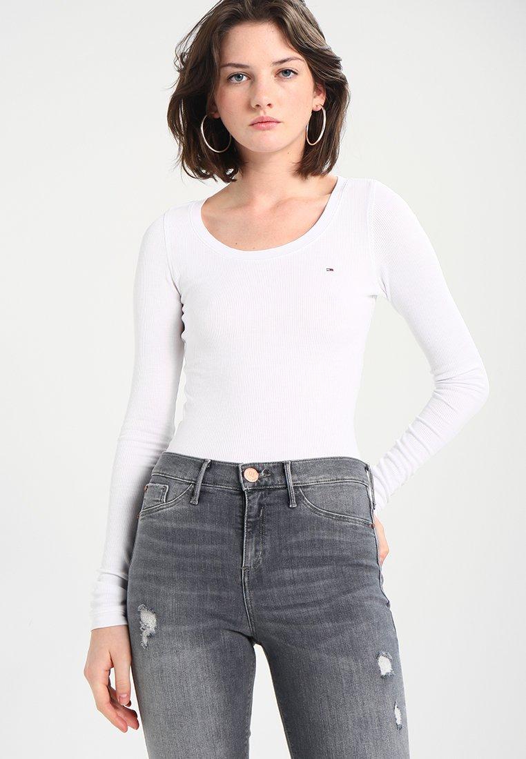 Tommy Jeans - ORIGINAL LONGSLEEVE - Longsleeve - classic white