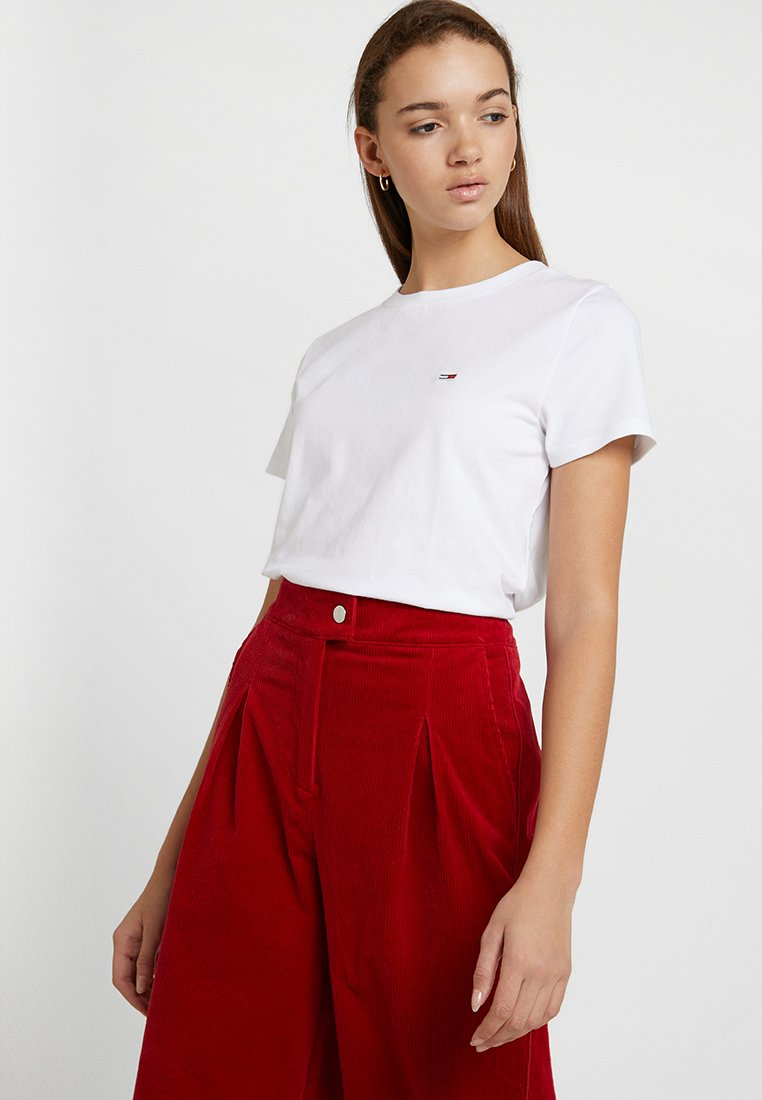 Tommy Jeans - CLASSICS TEE - T-shirt basic - classic white