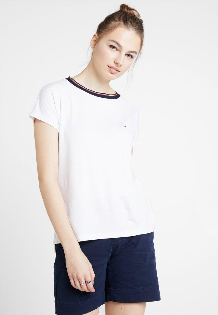 Tommy Jeans - SOLID TEE - T-shirt z nadrukiem - classic white