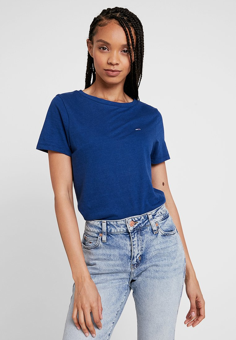 Tommy Jeans - SUMMER ESSENTIAL TEE - T-shirts - estate blue
