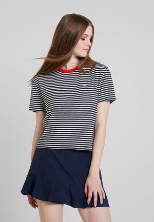 SUMMER CONTRAST TEE - T-shirt imprimé - black iris/classic white