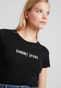 Tommy Jeans - ESSENTIAL SLIM TEE - T-shirts print - black - 3
