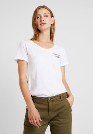 ESSENTIAL V NECK TEE - T-shirt basique - classic white