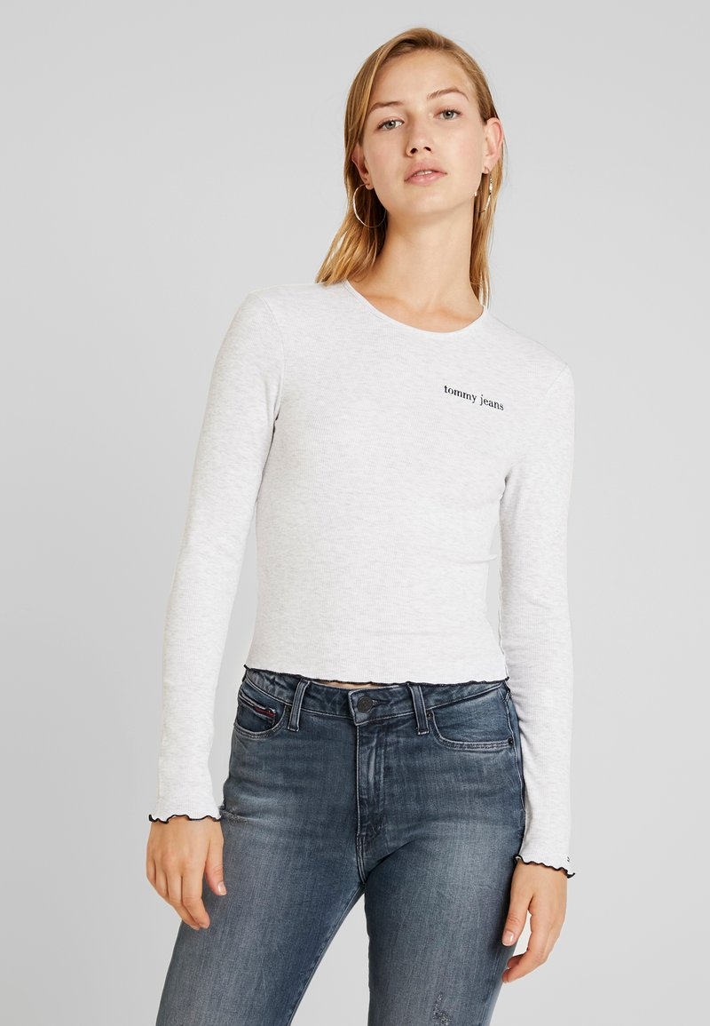Tommy Jeans - BABYLOCK LONGSLEEVE - Long sleeved top - pale grey heather