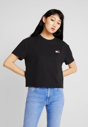 TJW TOMMY BADGE TEE - T-shirt - bas - black