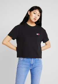 Tommy Jeans - BADGE TEE - Basic T-shirt - black