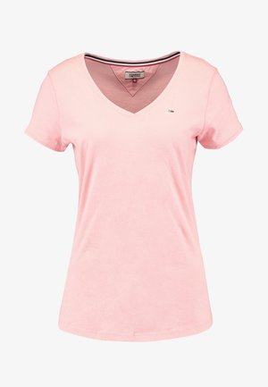 SOFT V NECK TEE - T-shirts - pink icing