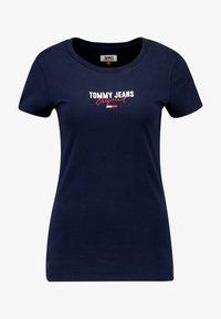 Tommy Jeans - SLIM MODERN LOGO TEE - T-shirt - bas - black iris - 3