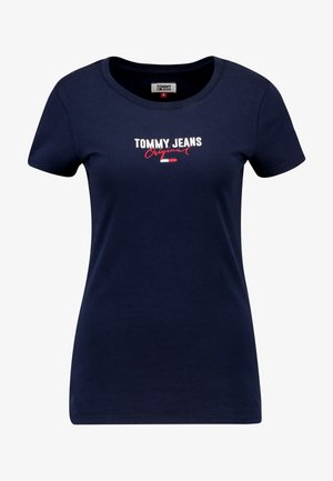 SLIM MODERN LOGO TEE - Basic T-shirt - black iris