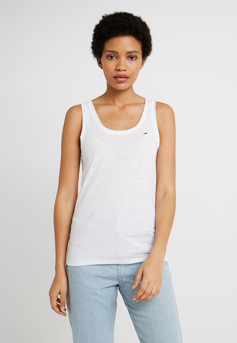 Tommy Jeans - SUMMER ESSENTIAL TANK - Toppi - classic white