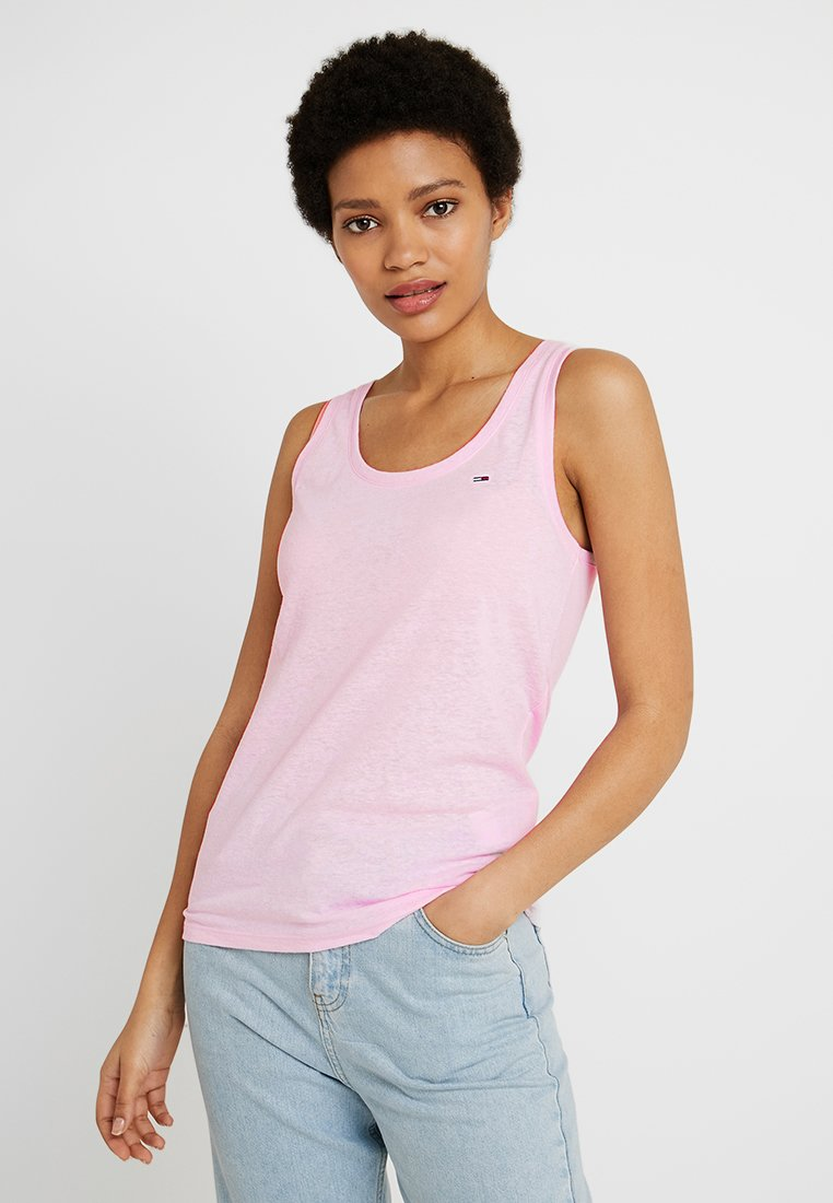 Tommy Jeans - SUMMER ESSENTIAL TANK - Toppe - roseate spoonbill