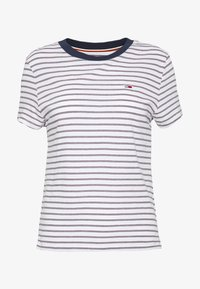 Tommy Jeans - ESSENTIAL STRIPE TEE - Print T-shirt - classic white / multi - 4