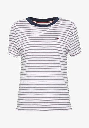 ESSENTIAL STRIPE TEE - Camiseta estampada - classic white / multi