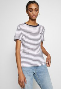 Tommy Jeans - ESSENTIAL STRIPE TEE - Print T-shirt - classic white / multi - 3