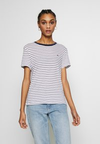 Tommy Jeans - ESSENTIAL STRIPE TEE - Print T-shirt - classic white / multi - 0