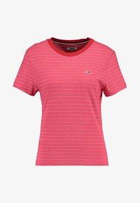 Tommy Jeans - ESSENTIAL STRIPE TEE - T-shirt imprimé - claret red - 3