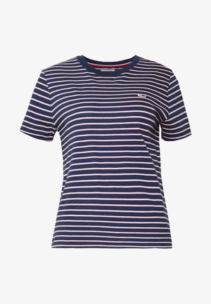 ESSENTIAL STRIPE TEE - T-shirt z nadrukiem - black iris/multi