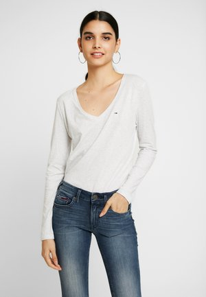SOFT V NECK LONGSLEEVE - Topper langermet - pale grey heather