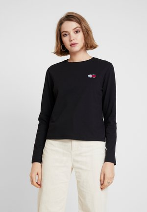 BADGE LONGSLEEVE - Langarmshirt - black