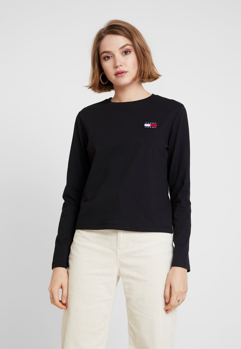 Tommy Jeans - BADGE LONGSLEEVE - Longsleeve - black