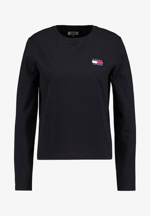 BADGE LONGSLEEVE - Long sleeved top - black