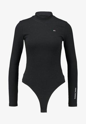 LONGSLEEVE LOGO BODY - Long sleeved top - black