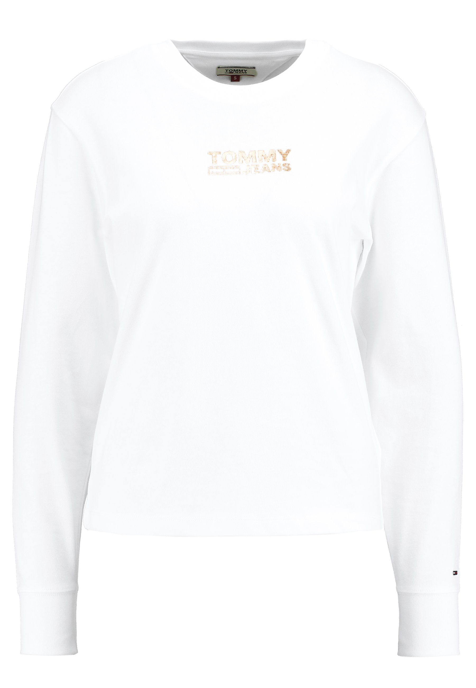Tommy Jeans Chest Longsleeve - Long Sleeved Top Classic White